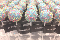 Proof Point Branded Cake Pops