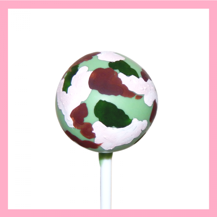 Camouflage cake pops