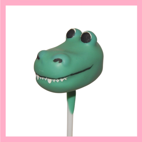 Crocodile cake pop
