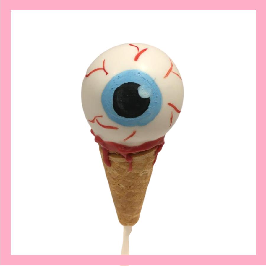 Eye Scream cake pops