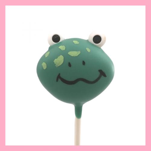 Frog cake pop