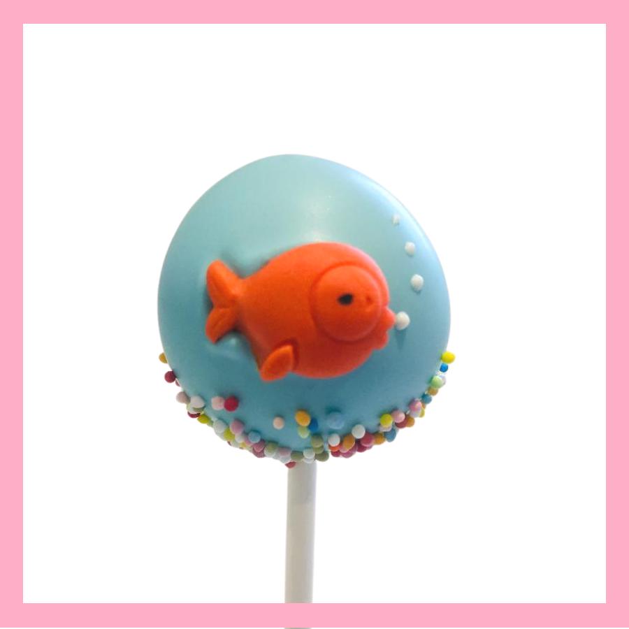 Goldfish bowl cake pops