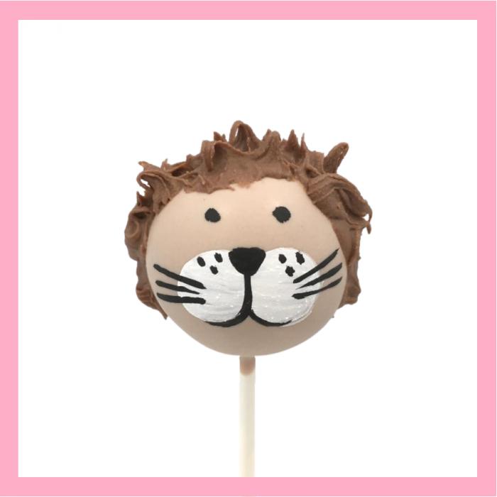lion cake pops