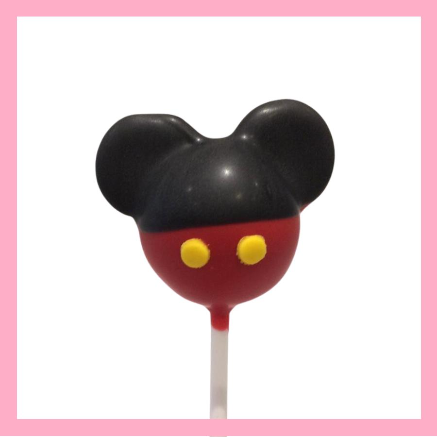 Mickey silhouette cake pop