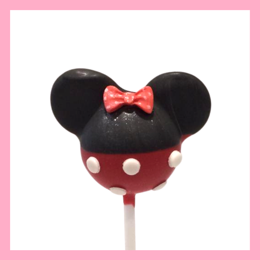 Minnie mouse silhouette cake pops