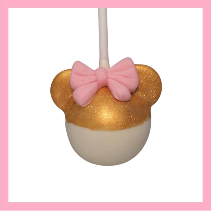 Minnie Gold cake pops