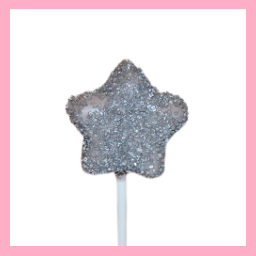 Sparkly star cake pops