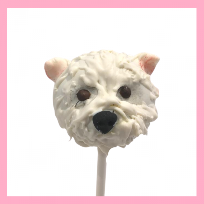 Terrier cake pop