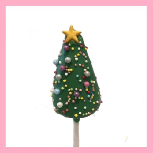 Christmas tree cake pops
