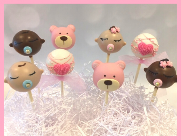 Baby themed cake pops