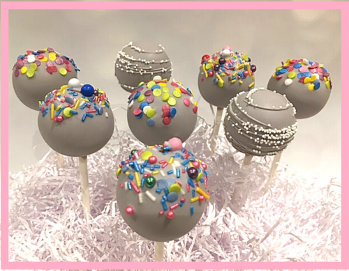 Sprinkled cake pops