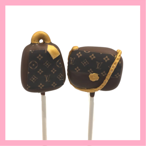 Louis Vuitton handbag cake pops