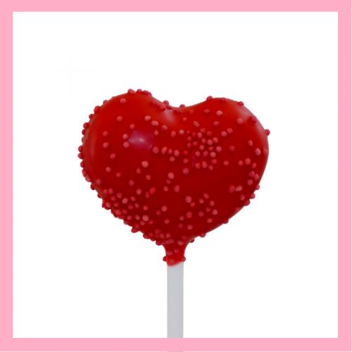 Heart cake pop