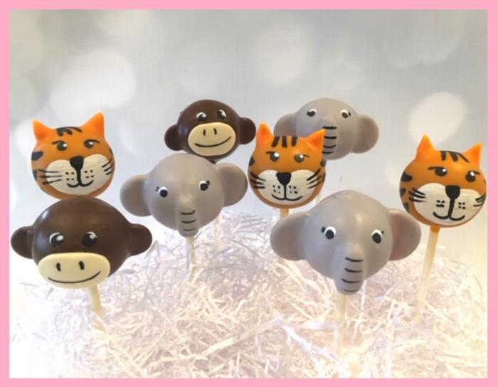 Jungle animal cake pops
