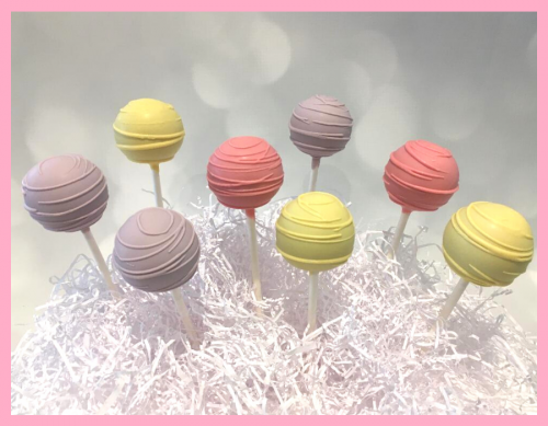 Swirly cake pops