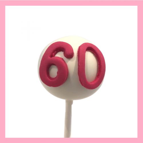 Number cake pops